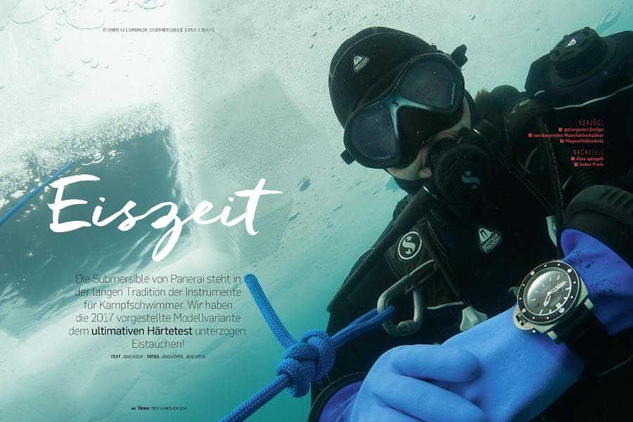 Tauchen unter dem Eis: Praxistest Panerai Luminor Submersible 1950 3 Days