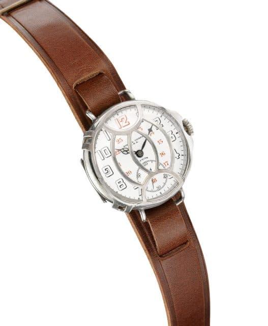 Zenith: Armbanduhr mit Schutzgitter für das U. S. Signal Corps im Ersten Weltkrieg