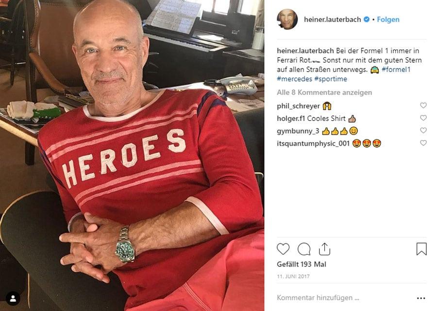 Heiner Lauterbach trägt Rolex