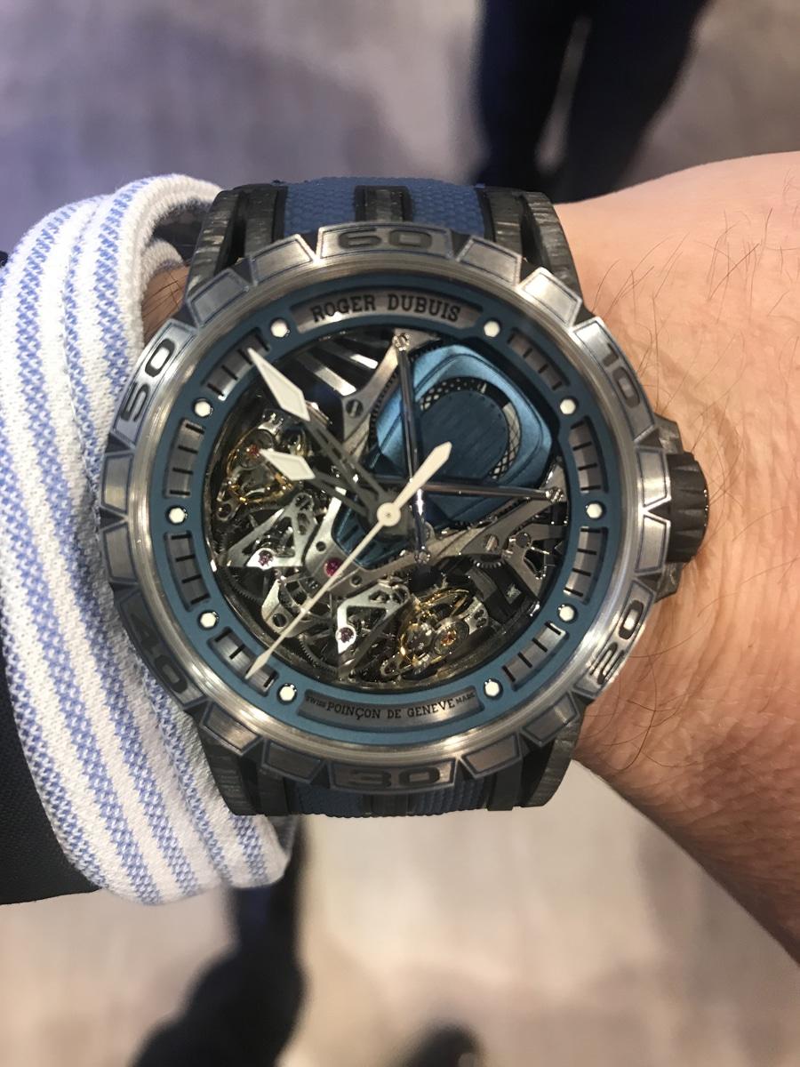 Wristshot der Excalibur Aventador S Bucherer Blue Editions