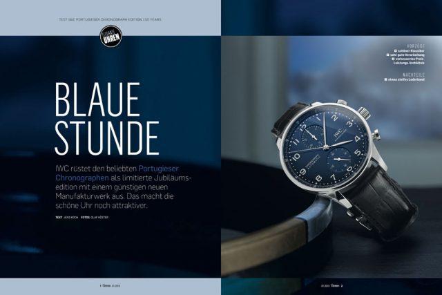 In Chronos 01.2019 getestet: der neue Portugieser Chronograph