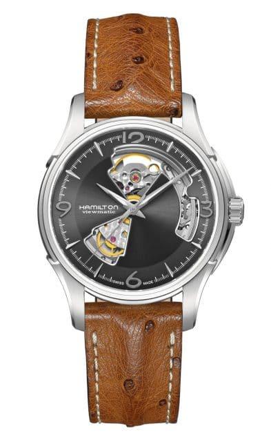 Platz 9 der meistgesuchten Uhren unter 1.000 Euro: Hamilton Jazzmaster Open Heart