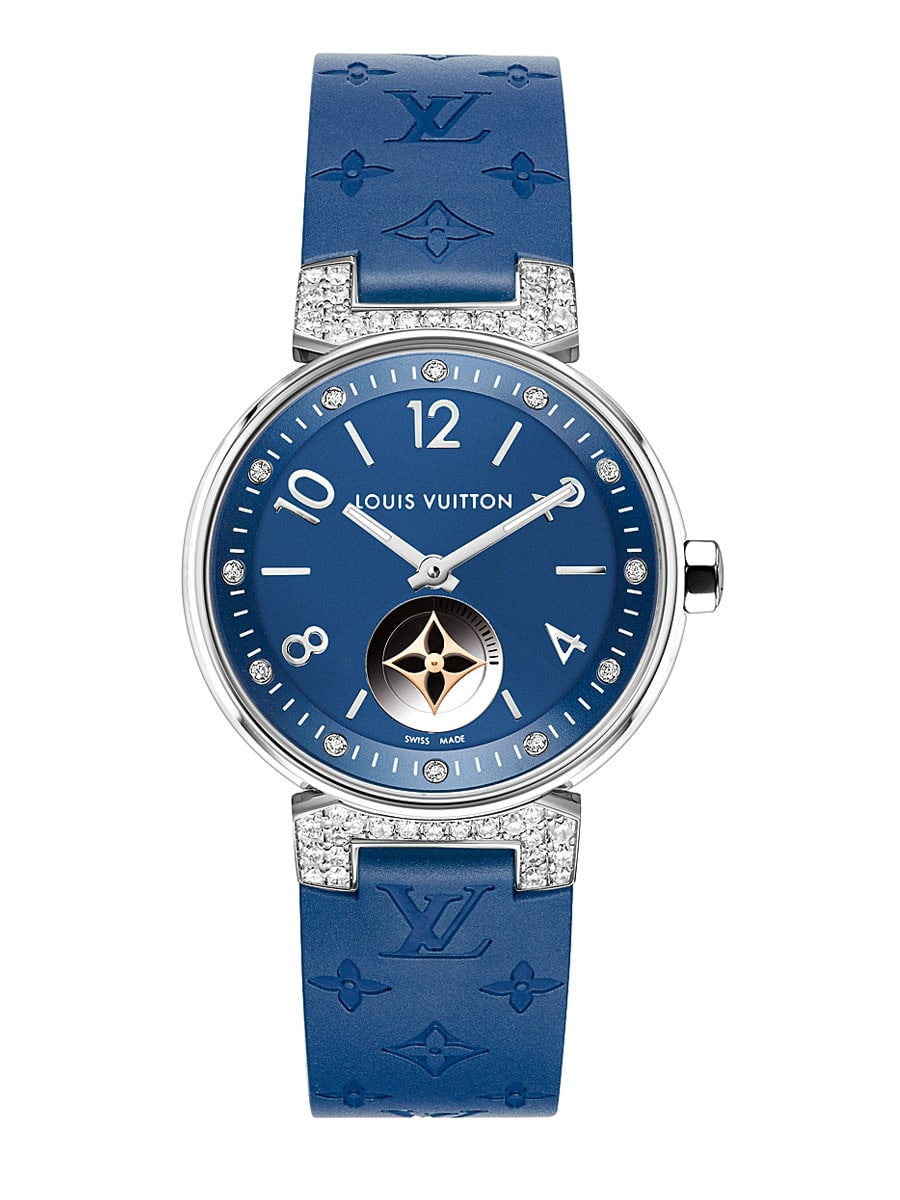 Louis Vuitton Tambour Moon Star Blue mit Diamantbesatz