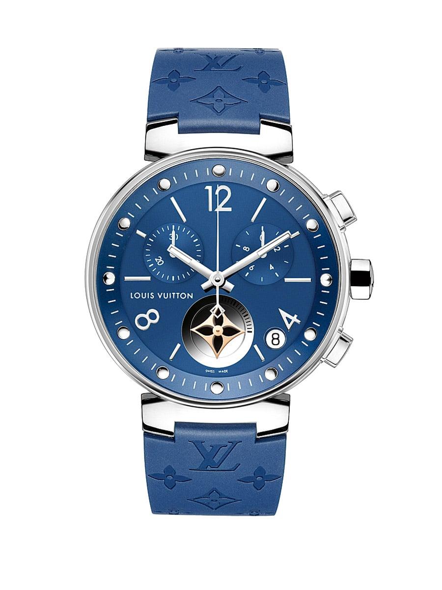 Louis Vuitton Tambour Moon Star Blue Chronograph