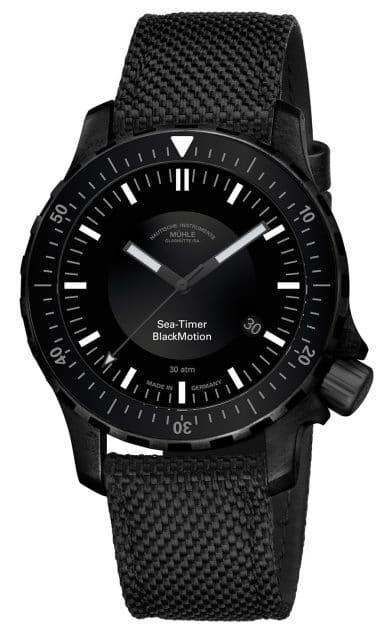 Mühle-Glashütte: Sea-Timer Black Motion