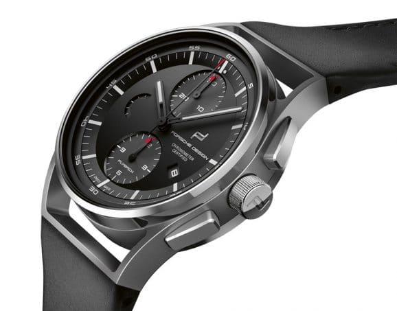 Beim Porsche Design 1919 Chronotimer Flyback Black & Leather arbeitet ein von Concepto speziell für Porsche Design entwickeltes Chronographenwerk mit Flyback-Funktion. (Titan, 42 mm, Chronometer, 5.950 Euro)