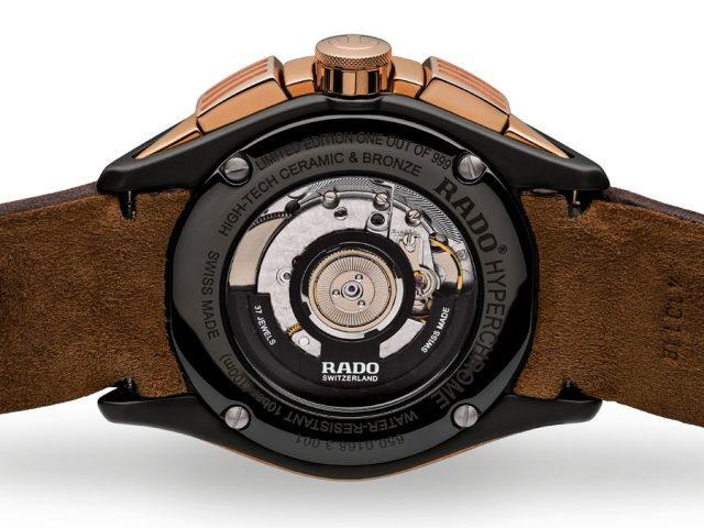 Rückseite der Rado HyperChrome Chronograph Bronze