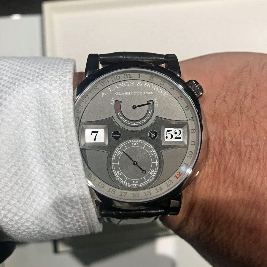 A. Lange & Söhne Zeitwerk Date Wristshot