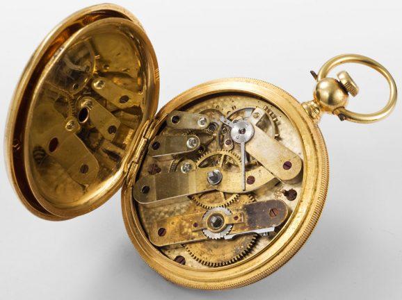 Historischer Antrieb: das Uhrwerk der ältesten Longines-Uhr Japans