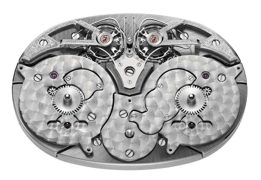Armin Strom: Dual Time Resonance Sapphire, Handaufzug-Manufakturkaliber ARF17