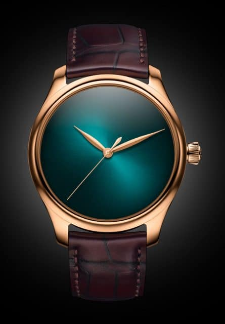H. Moser & Cie. Endeavour Centre Seconds Concept Blue Lagoon in Rotgold