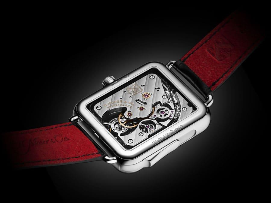 Rückseite der H. Moser & Cie. Swiss Alp Watch Concept Black