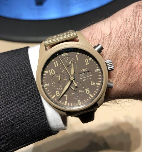 """Wristshot der IWC Pilot's Watch Chronograph TOP GUN Edition """"Mojave Desert"""""""