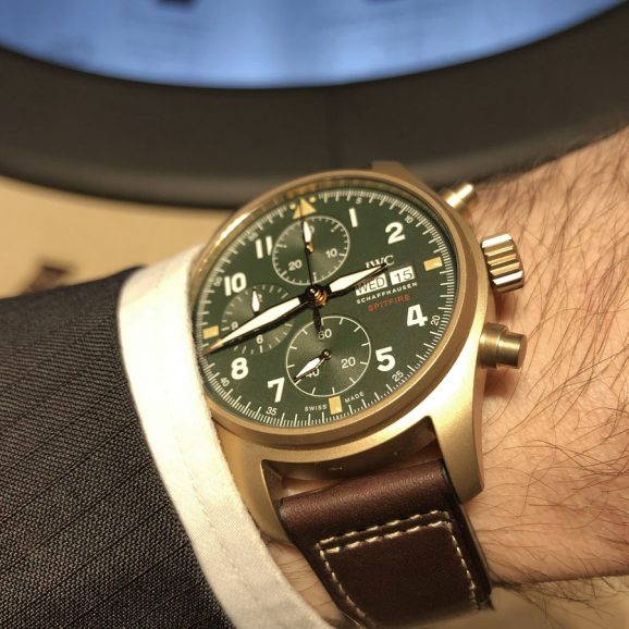 Wirstsot des IWC Pilot's Watch Spitfire Chronograph