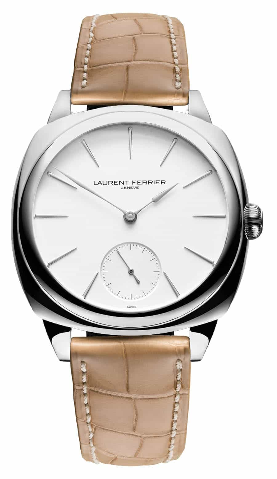 Laurent Ferrier Galet Micro-Rotor Square Opaline White