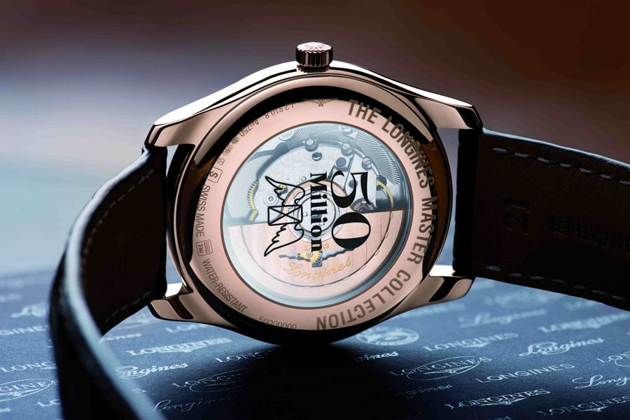 Longines: Bodengravur der The Longines Master Collection 50.000.000