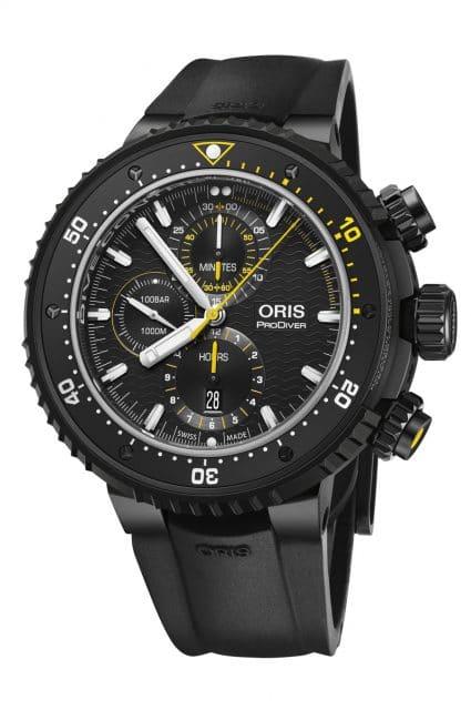 Oris: Dive Control Limited Edition mit schwarzem Kautschukband