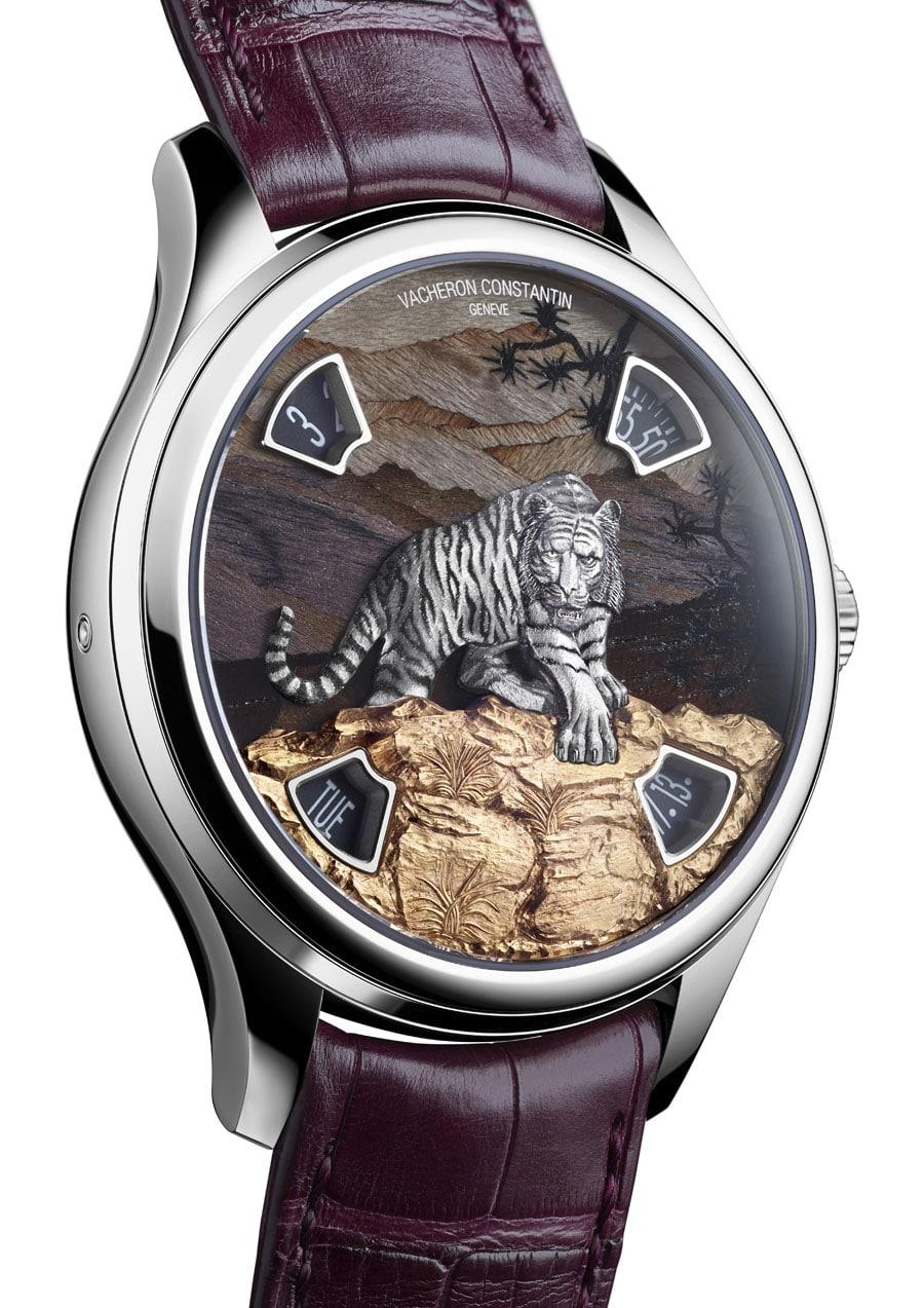 Vacheron Constantin: Les Cabinotiers Imperial Tiger, Burgunderholzintarsie