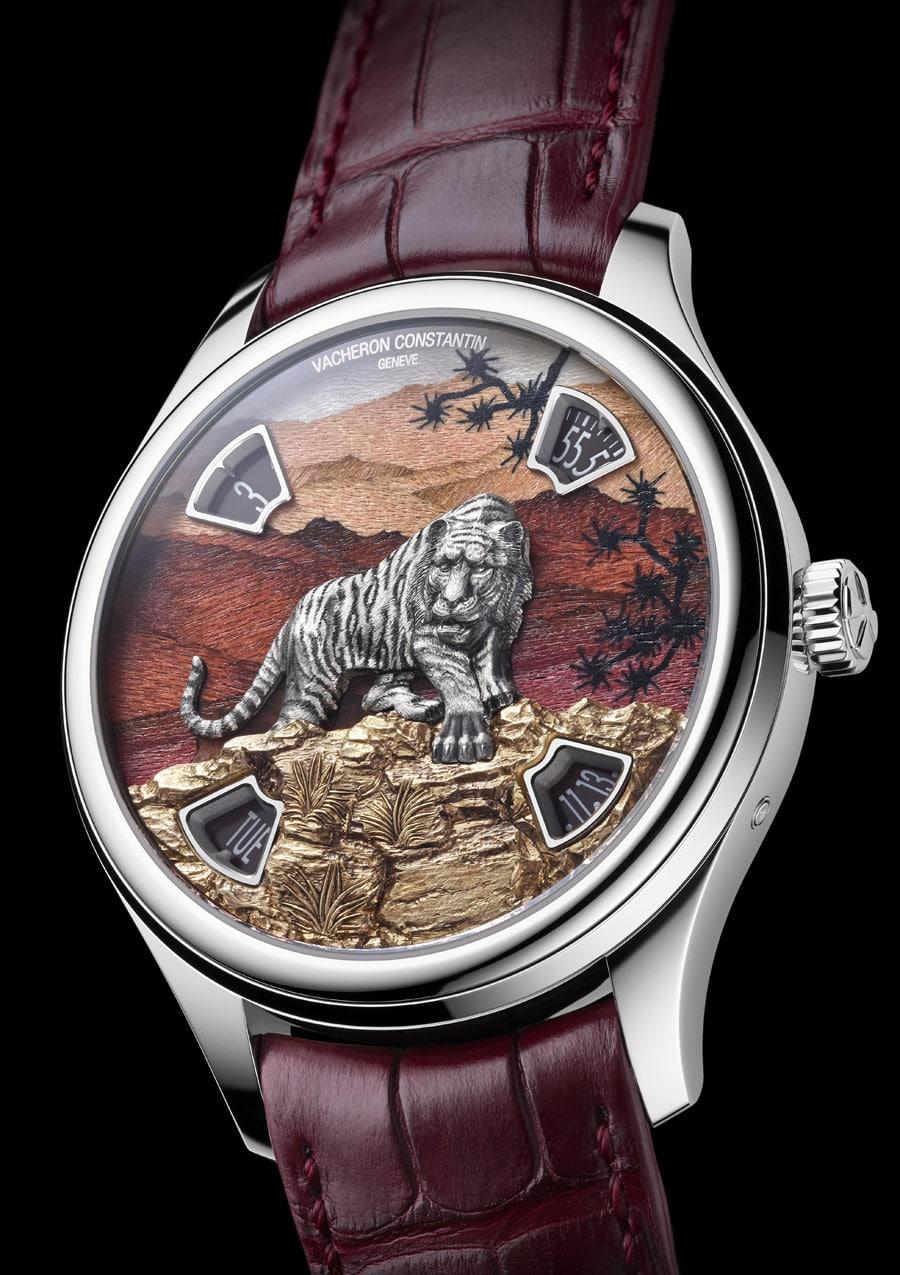 Vacheron Constantin: Les Cabinotiers Imperial Tiger, Rotholzintarsie