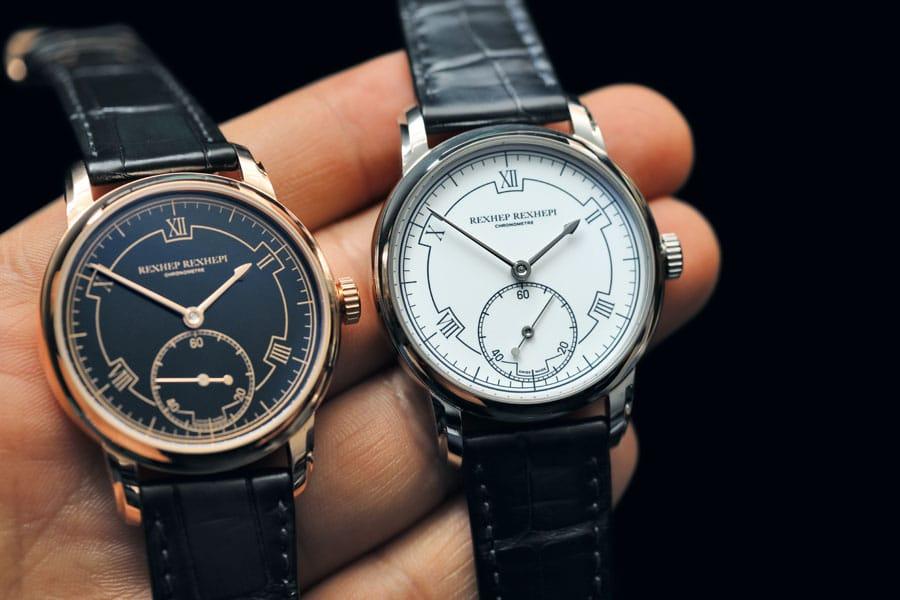 Erste Uhr mit der Signatur des Gründers: Chronomètre Contemporain (55.500 Schweizer Franken in Roségold, 58.000 Franken in Platin