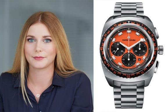 Nadja Ehrlich, Online-Redakteurin Watchtime.net, gefällt die Favre-Leuba Raider Sea Sky in Orange
