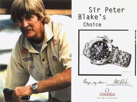 Markenbotschafter 1995: Sir Peter Blake und die Omega Seamster Diver 300M