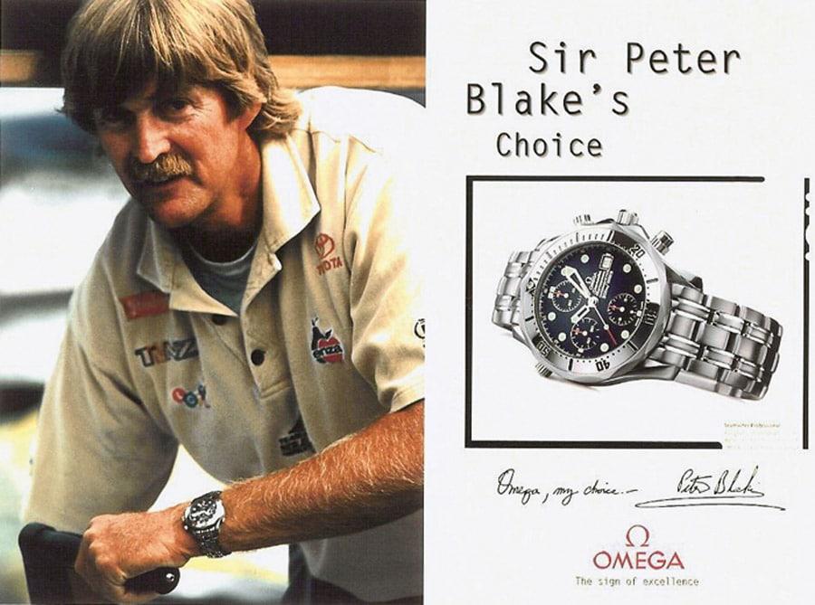 Omega Seamaster Diver 300M Werbeplakat 1995 Sir Peter Blake