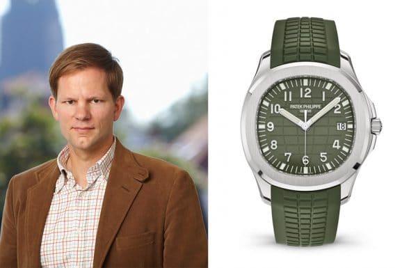 Chronos-Redakteur Jens Koch wählt die Patek Philippe Aquanaut in Grün