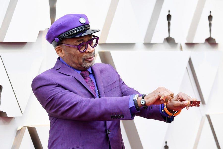 Spike Lee trägt die Reverso Classic Medium Duoface Small Seconds