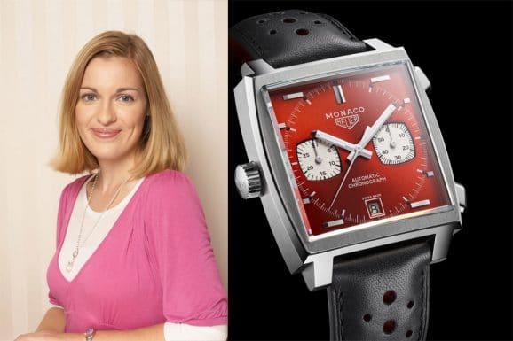 Tipp für eine bunte Uhr von Katharina Studer, Redakteurin Watchtime.net: TAG Heuer Monaco 1979 - 1989 in Rot