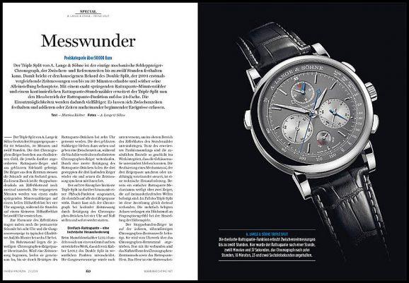 Special-Thema Chronographen: A. Lange & Söhne Triple Split