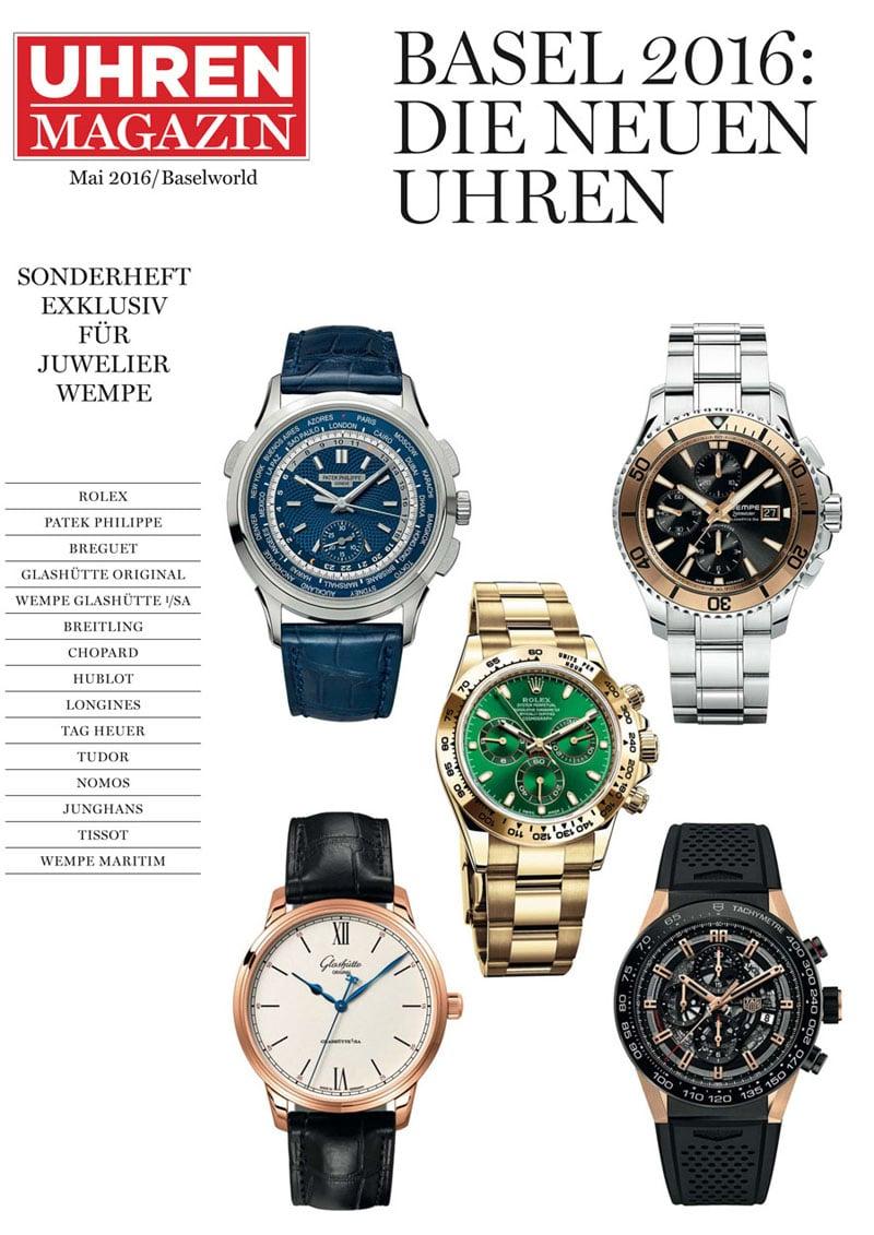 Produkt: Sonderheft exklusiv für Juwelier Wempe: Baselworld 2016 – Die neuen Uhren
