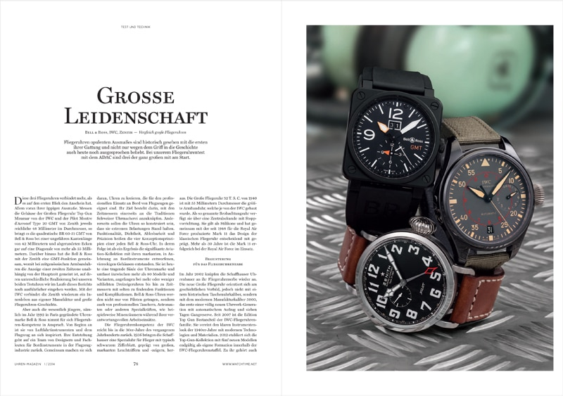 Produkt: Download Fliegeruhren-Test: Bell & Ross, IWC und Zenith