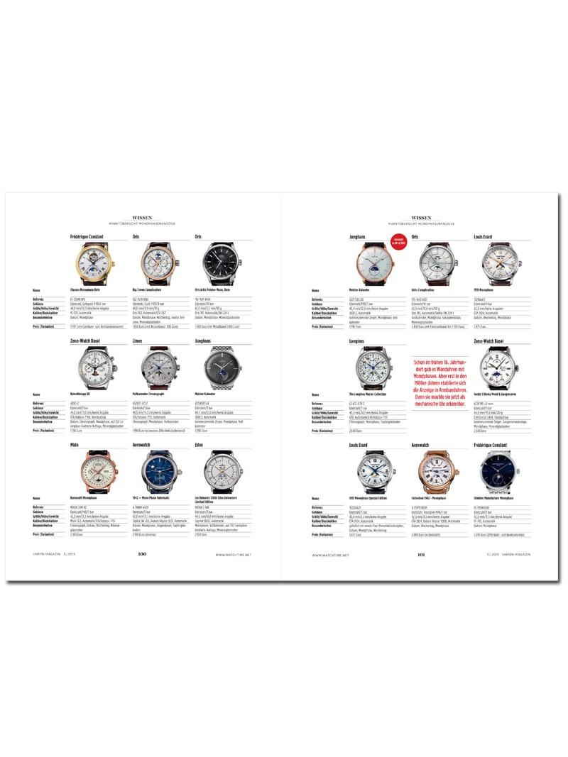 Produkt: Download Marktübersicht: Uhren mit Mondphasenanzeige