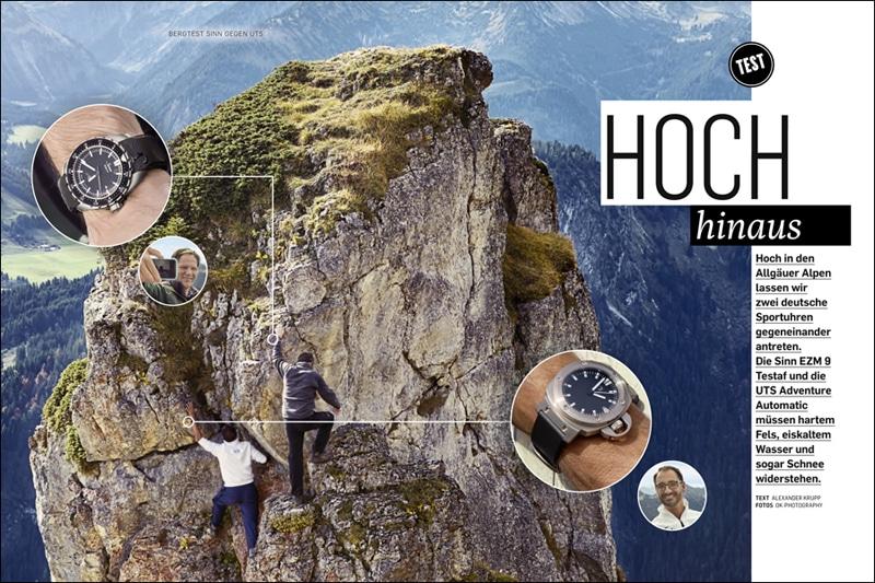 Produkt: Download Vergleichstest Sportuhren in den Bergen:  Sinn versus UTS