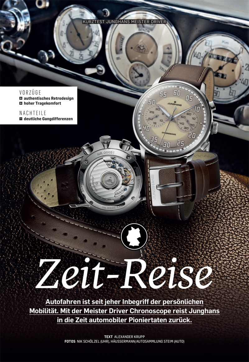 Produkt: Download Kurztest: Junghans Meister Driver Chronoscope