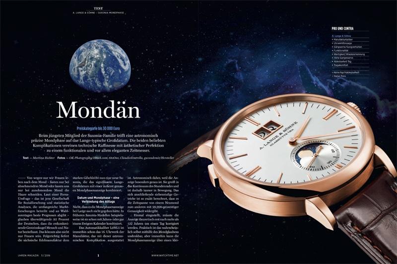 Produkt: Download Einzeltest:  A. Lange & Söhne Saxonia Mondphase