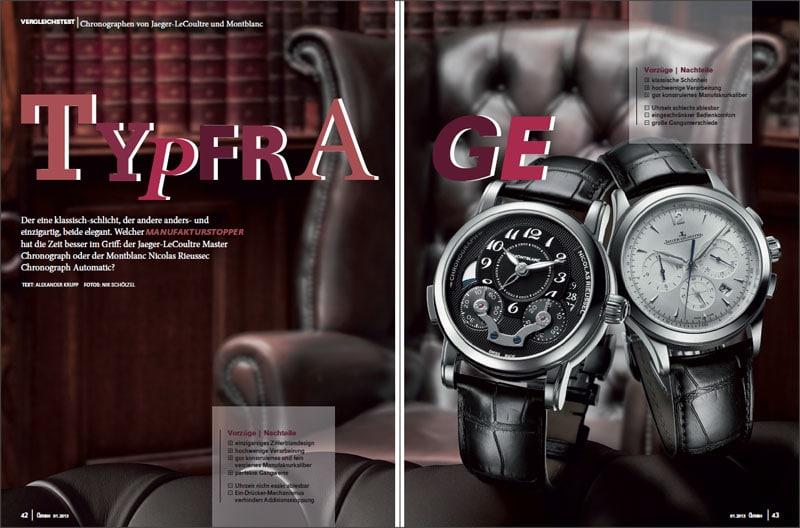 Produkt: Download Vergleichstest: Jaeger-LeCoultre Master Chronograph vs. Montblanc Nicolas Rieussec Chronograph Automatic