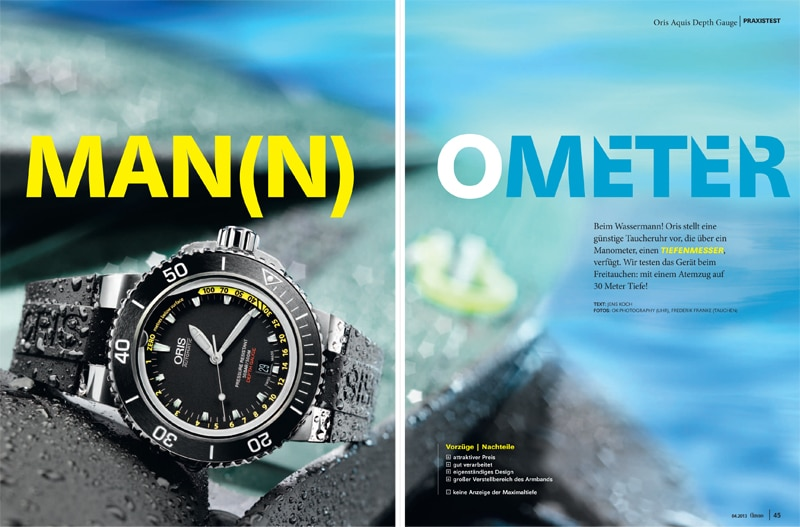 Produkt: Download Einzeltest: Oris Aquis Depth Gauge