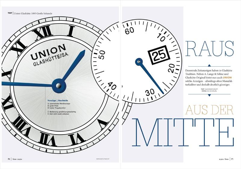 Produkt: Download Einzeltest: Union Glashütte 1893 Große Sekunde