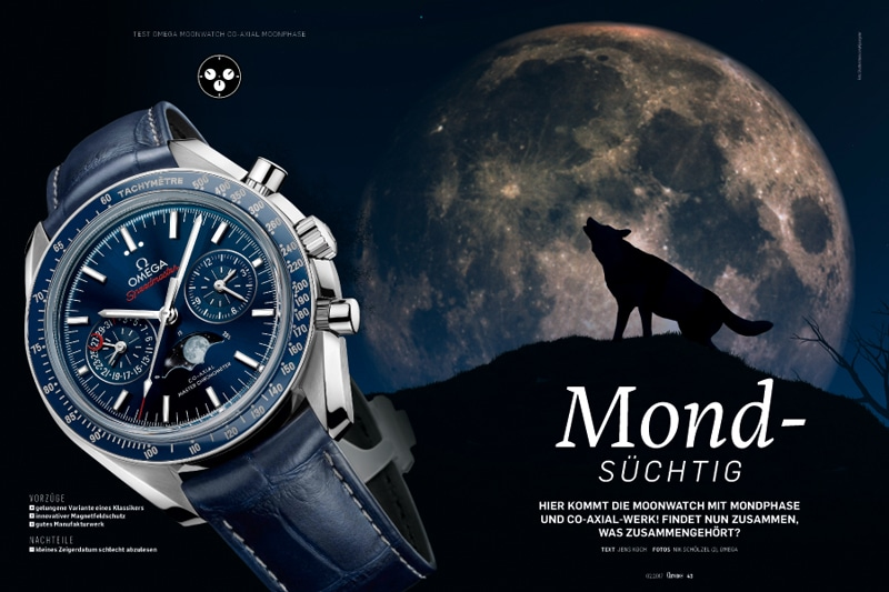 Produkt: Download Einzeltest: Omega Speedmaster Moonwatch Co-Axial Master Chronometer Moonphase