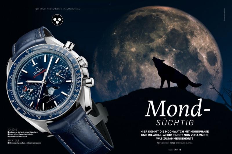 Produkt: Download Einzeltest: Omega Speedmaster Moonwatch Co-Axial Master Chronometer Moonphase
