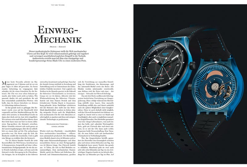 Produkt: Download Einzeltest: Swatch Sistem51