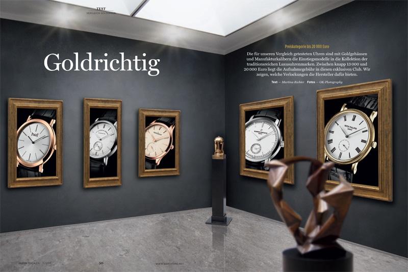 Produkt: Download Vergleichstest Golduhren: A. Lange & Söhne, Jaeger-LeCoultre, Patek Philippe, Piaget, Vacheron Constantin