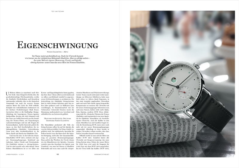 Produkt: Download Einzeltest: Nomos Glashütte Metro