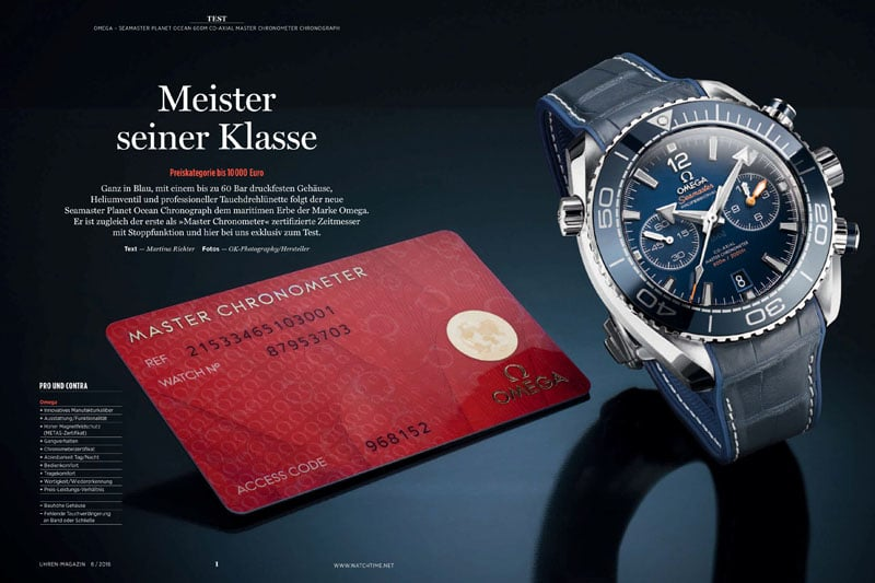Produkt: Download: Omega Seamaster Planet Ocean Chronograph erstmals als Master Chronometer im Test