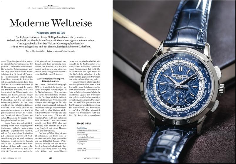 Produkt: Download: Patek Philippe Weltzeit-Chronograph im Test