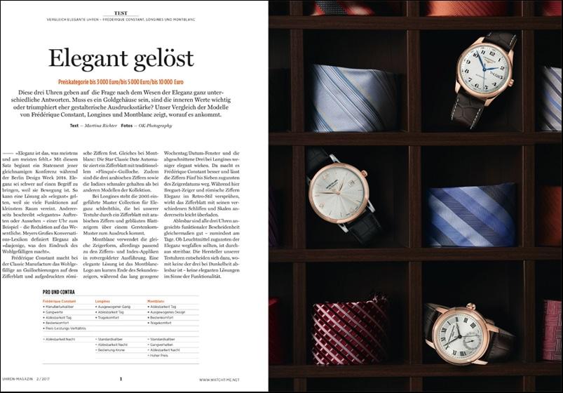 Produkt: Download: Vergleichstest elegante Uhren von Frédérique Constant, Longines und Montblanc