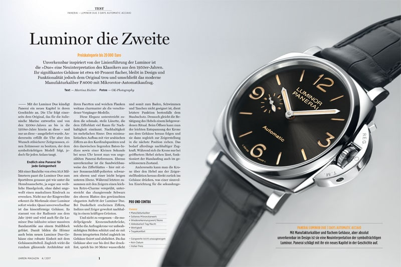 Produkt: Download: Test der Panerai Luminor Due 3 Days Automatic Acciaio