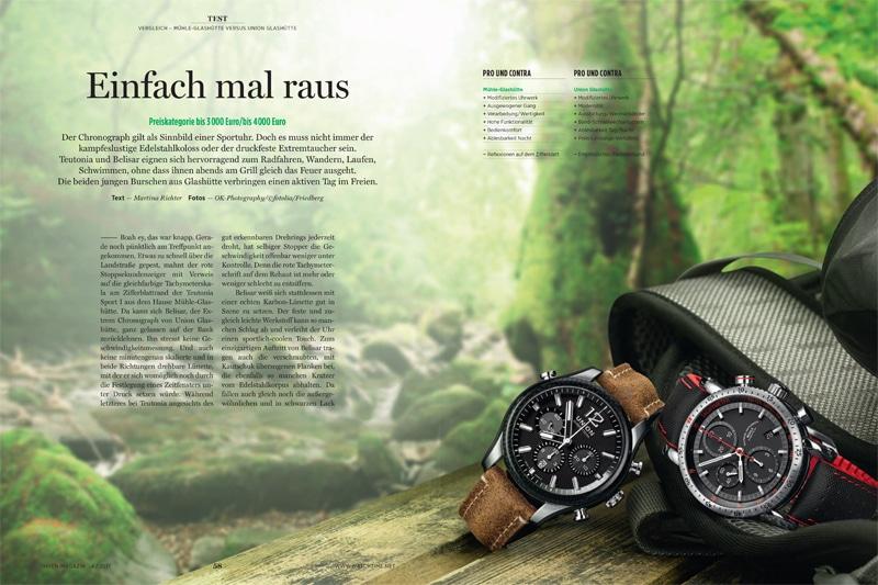 Produkt: Download Vergleichstest: Teutonia Sport I von Mühle-Glashütte gegen Belisar Extrem Chronograph von Union Glashütte